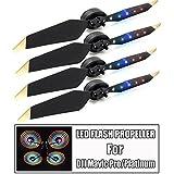 DZT1968 4PC 3V 200mAh Low-Noise Quick Release Folding LED Light Flash Propellers For DJI Mavic