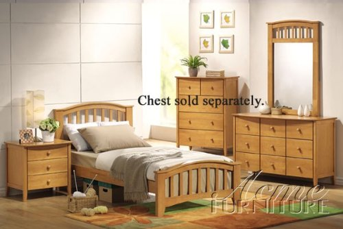 4pc Full Size Bedroom Set Maple Finish by Acme Furniture