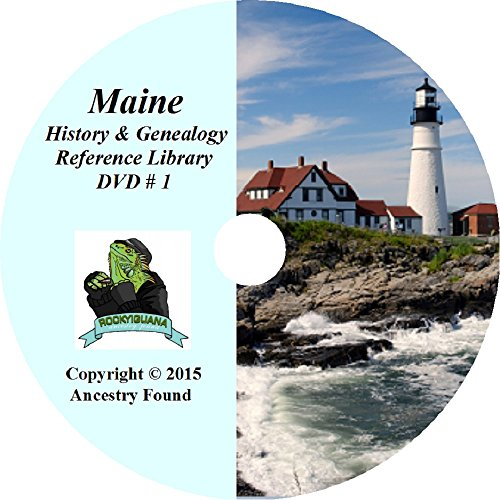 220 old books MAINE History & Genealogy Family Tree