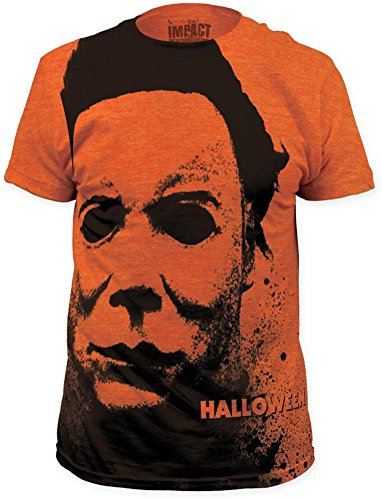 Halloween - Splatter Mask (Slim Fit) T-Shirt Size