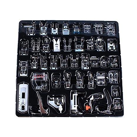 Kit de prensatelas - Dxlta Máquina de coser pie piezas de repuesto accesorios - Con caja