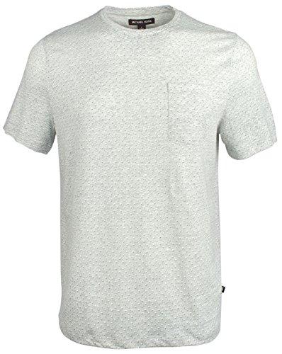 - Michael Kors Men's Printed Short Sleeve Shirt-HG-M Heather Grey