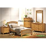 4pc Full Size Bedroom Set Maple Finish