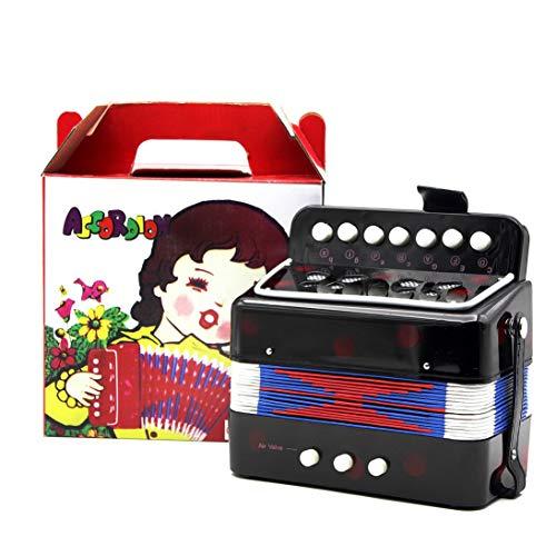 - Baynne 1PC Mini Kids Accordion 7-Key 3 Bass Educational Childrens Beginner Practice Music Instrument Band Toy