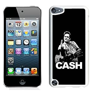 Johnny Cash White Best Sale Fantastic iPod Touch 5 Cover Case