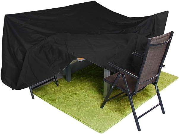 AGLZWY-Jardín Funda Muebles Anti-UV Protector Solar Impermeable Lona Alquitranada Resistencia Al Desgarro Oxford Personalizable (Color : Negro, Size : 60x60x80cm): Amazon.es: Hogar