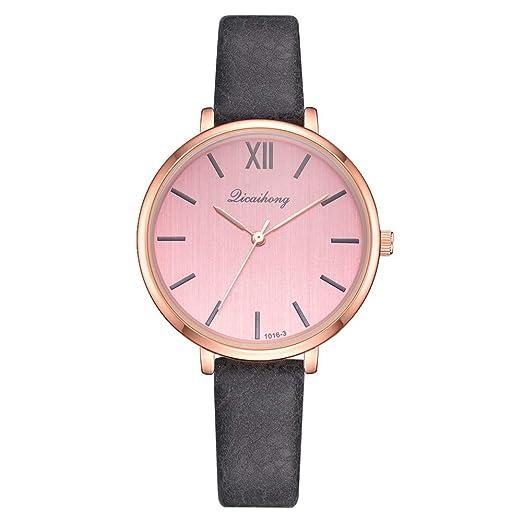 Pulsera del Reloj,Pwtchenty Reloj de Cuarzo de Pulsera Mujeres Accesorios de Moda Cuero de