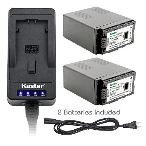 - Kastar LED Super Fast Charger & Camcorder Battery X2 for Panasonic VW-VBG6 Panasonic AG-AC160A, AG-AC7, AG-AC130A, AG-AC160A, AG-HMC40, AG-HMC70, AG-HMC150, H68, H80, H90, H258, VDR-D50, D58, D310
