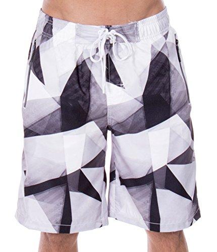 Grey Hawaiian Print Boardshorts - 6