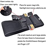 GVN-Belly-Band-Holster-for-Concealed-Carry-Fits-Gun-Smith-and-Wesson-Bodyguard-Glock-19-17-42-43-P238-Ruger-LCP-and-Similar-Sized-Guns-for-Men-and-Women