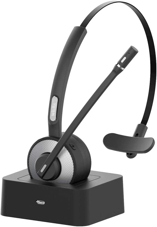Amazon Com Willful M98 Bluetooth Headset Wireless Headset With Microphone Charging Base Pro Clear Sound For Car Truck Driver Call Center Home Office Pc Electronics