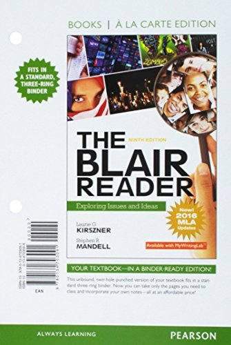 The Blair Reader: Exploring Issues and Ideas, MLA Update, Books a la Carte Edition (9th Edition)