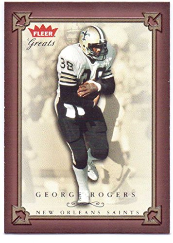 (George Rogers 2004 Fleer Greats of the Game #7 - New Orleans Saints, Washington Redskins)