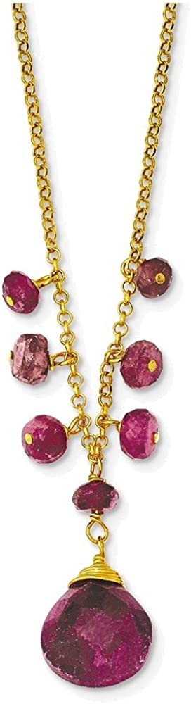 Sterling Silver /& Vermeil Ruby Necklace