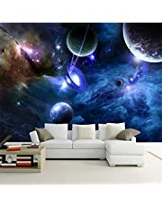 Zybnb Aangepaste 3D Foto Behang Planeet Universele Ruimte Planeet Muur Papier Home Decor Woonkamer Slaapkamer Plafond Mural Wallpaper-200X140Cm