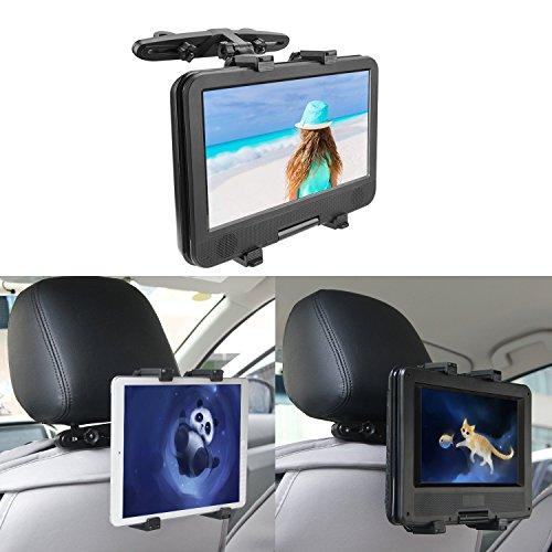 COOAU Adjustable iPad Car Holder, Car Backseat Headrest Extension Mountable Holder for 7 to 12 Inch iPad Pro/iPad Air/iPad Mini, Tablets, Samsung Galaxy Tab, Kindle Fire, Portable DVD Players