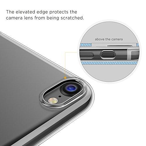 [Unterstützt kabelloses Laden (Qi)] iPhone 7 Hülle iPhone 8 Hülle, EasyAcc Tasche Hülle Case kristallklar Ultra dünne Soft TPU Schutztasche Kamera Cover Case für das iPhone 7 / 8