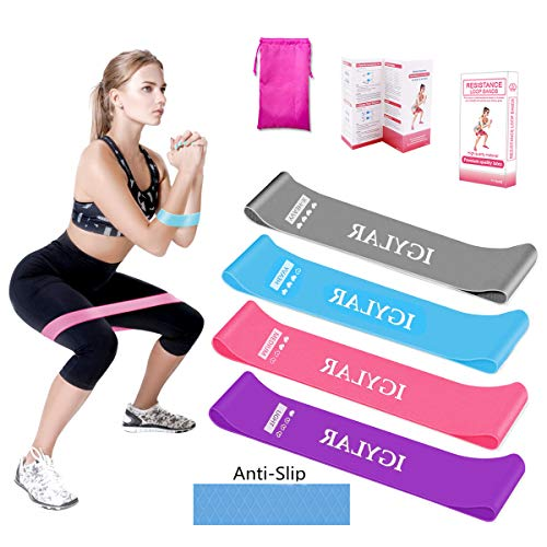 KIKOMO Booty Bands for Women Anti Slip Resistance Bands for Legs and Butt Resistance Loop Bands Workout Bands for Physical Therapy Rehab Exercise Home Fitness Yoga and More