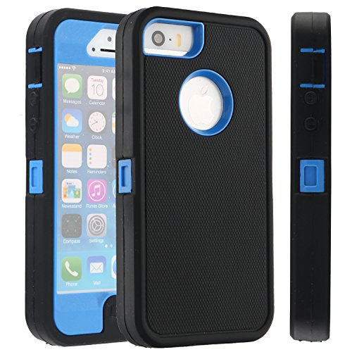 iphone 5 case protective blue - 5