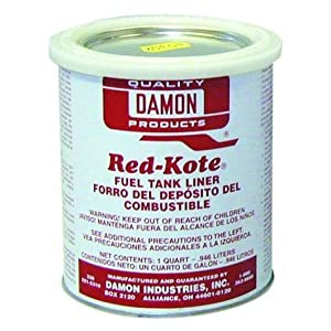 Red Kote Quart Coat Gas Fuel Tank Sealer Liner Gas Oil Diesel