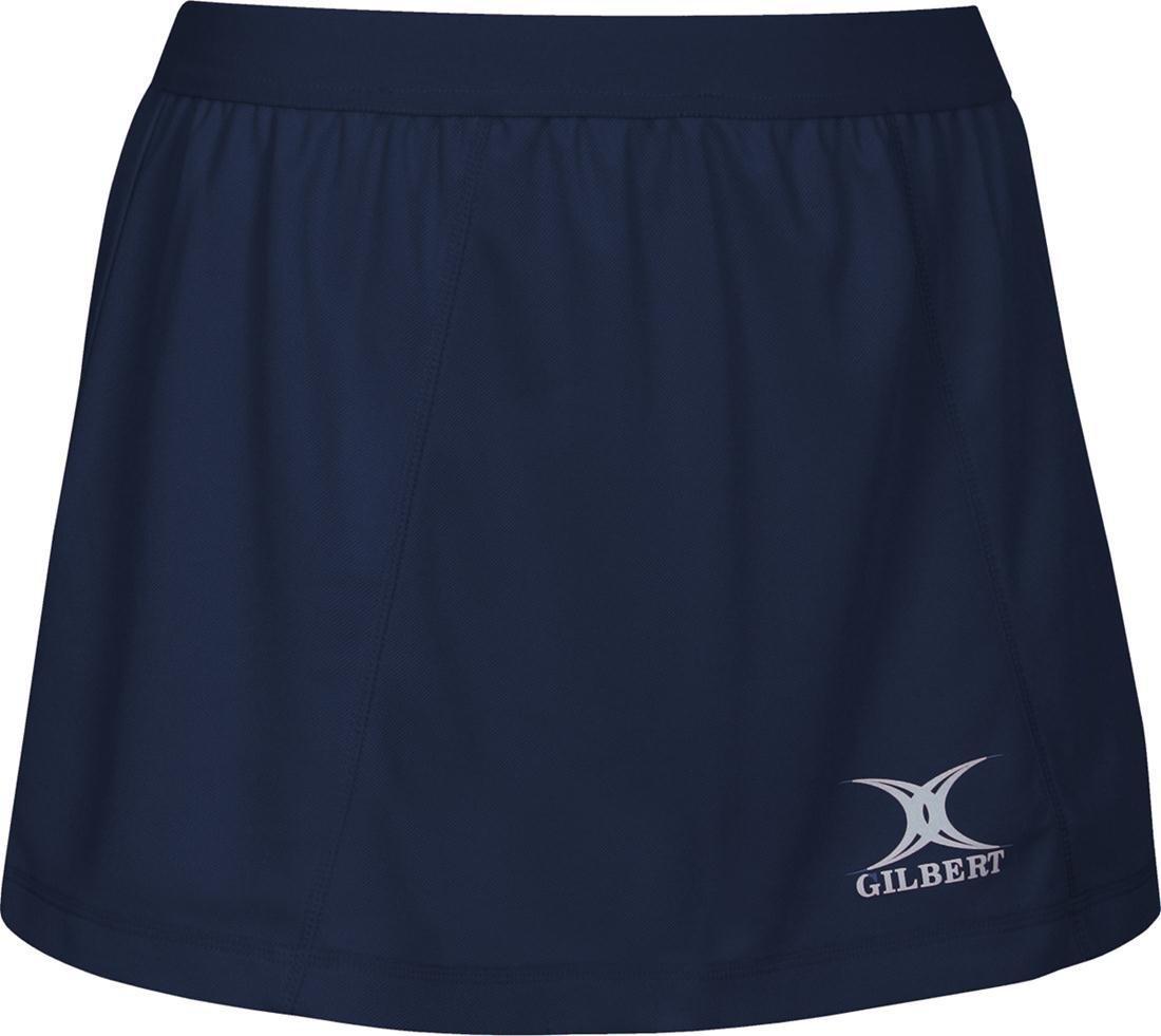 Gilbert Blaze NetballスポーツLadies /女の子伸縮性ウエストバンドトレーニングSkort 18 ネイビー B06XYSD3Z4