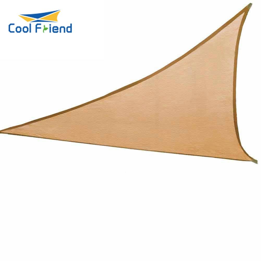 anccer Cool Friend Sun Shade Sail Uv Top Outdoor Canopy Patio Lawn Triangle Sand, 16.5 x16.5 x22 11