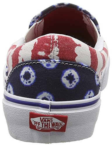 Multicolore Da Dots red dyed Classic Vans Stripes on Slip Basse amp; blue Adulto Unisex Scarpe Ginnastica wAzFgq