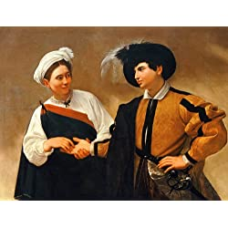 "Paintings Poster - The Fortune Teller (1594) by Caravaggio 16"" x 20"""