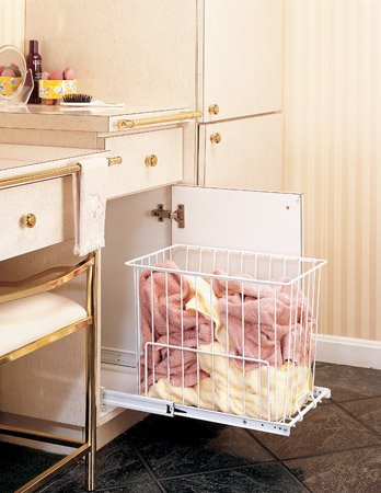 (Rev-A-Shelf HRV-1215 S Pull-Out Hamper / Utility Basket - Wire-White)