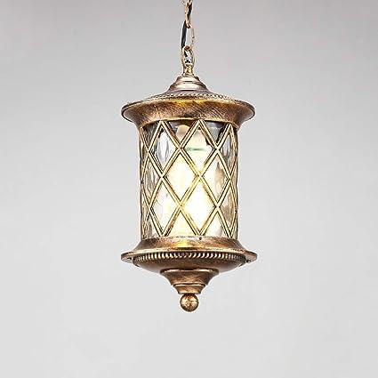 Outdoor Waterproof Corridor Ceiling Pendant Lamp Garden Hanging Patio Lights