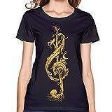 Music Stop512 Women Round-Neck Unique Music T-shirt New