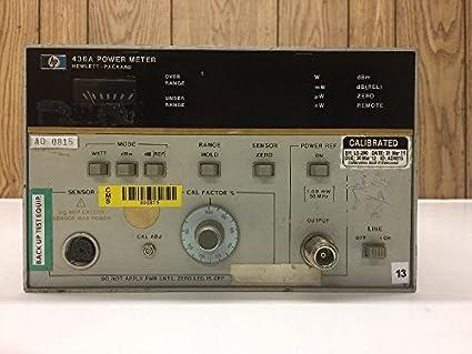 Hewlett packard hp 436a power meter operating information amazon hewlett packard hp 436a power meter operating information freerunsca Choice Image