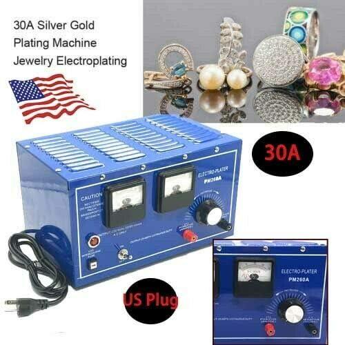Silver Electroplating Machine Jewelry Rectifier Tools Platinum Gold Silver Plating Machine Jewelry Plating Rectifier Jewelry Plater Electroplating Rectifier Gold Plating Machine