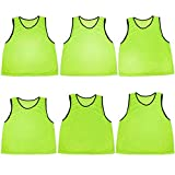 Crown Sporting Goods Scrimmage Pinnies with Mesh Storage Bag, 6 Pack, Green