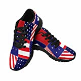 InterestPrint Women's Trail Running Shoes Jogging Lightweight Walking Athletic Sneakers Patchwork Of American Flag 10 B(M) US