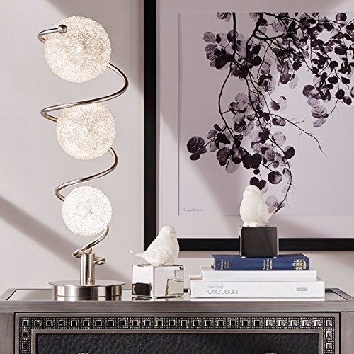 Russo Elliptical Nickel Base Finish Table Lamp by iNSPIRE Q
