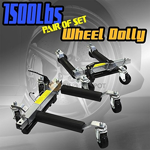 Rison® 2pc 1500lb HYDRAULIC Positioning Car Wheel Dolly Jack Lift hoists Moving Vehicle by Rison® (Image #6)