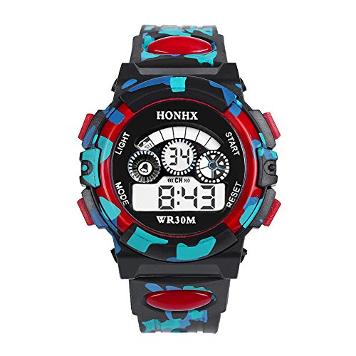 Alalaso Sports Smart Watch, Outdoor Multifunction Waterproof Kid Child Boy's Sports Electronic Watches (Red)