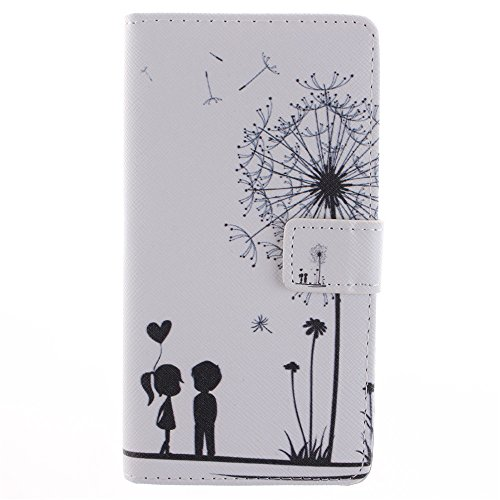 For Samsung Galaxy Note 4 Case, IVY Dandelion Graphics - Cute Fashion Magnetic Snap Wallet Card Flip Synthetic Leather TPU With Stand Cover Case For Samsung Galaxy Note 4