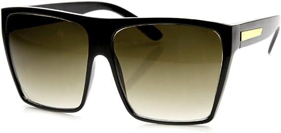 Square Flat Top Women Men Sunglasses Fasion Design Huge Frame Big Oversized KS