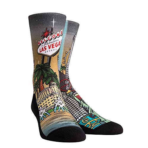 - Rock 'Em Las Vegas City Series Socks (YTH, Las Vegas Landmark Collage)