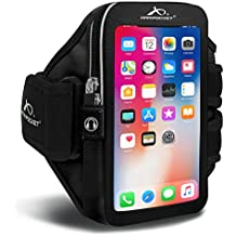 """Armpocket Ultra i-35 armband for iPhone X/8/7/6s/6, Galaxy S8/S7S/6, S7/6 edge or Google Pixel 2/1 with slim cases or other phones up to 6.0"""""""