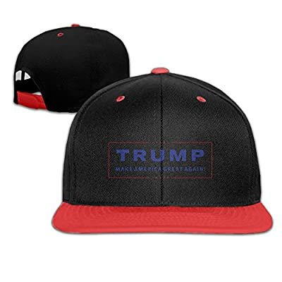 Gsyful Sport Donald Trump Make America Great Again 1 Unisex Snapback Cap Hat Red