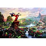 Ceaco Thomas Kinkade Disney Dreams Collection 4-in-1 Multi-Pack Puzzle (500 Pieces)