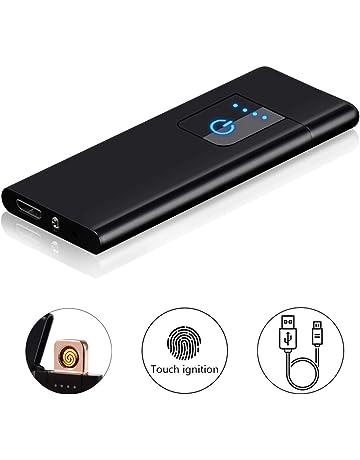Encendedor Electrico, Pantalla Táctil Mechero USB Mechero Electric, sin Llama, a Prueba de