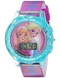 Disney Girl's Quartz Plastic Casual Watch, Color:Purple (Model: FZN3681TY)