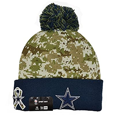 Men's Dallas Cowboys NFL New Era STS Sport knit Pom Hat Digi Size One Size