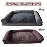 PP cotton Memory Foam Pet Soft Warm Sofa Dog Sofa Bed Coach Cushion House Kennel therapeutic bed (X-large, Brown) Review