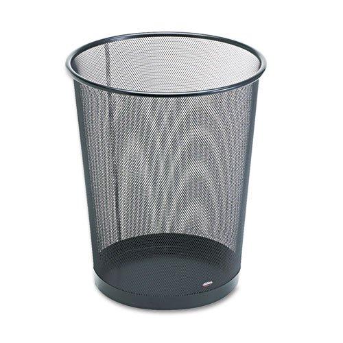 Wastebasket, Round, Wire Mesh, 11 1/2 dia x 14 1/4 h, Black