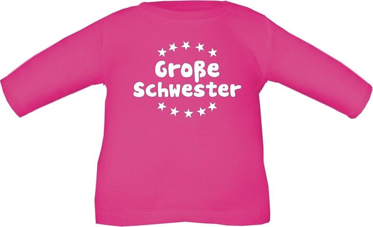 Baby/Kinder T-Shirt langarm mit Druck Große Schwester/Größe 60-152 in 6 Farben